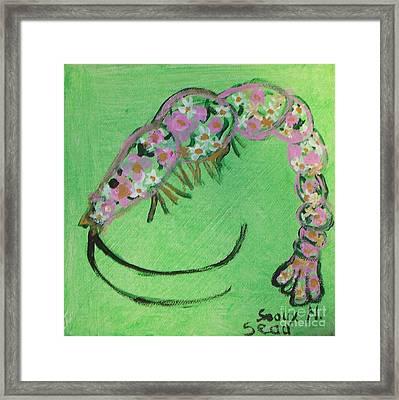 Shrimp Rolled In Flower Framed Print