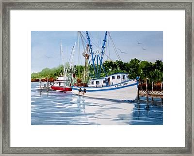 Shrimpers Framed Print