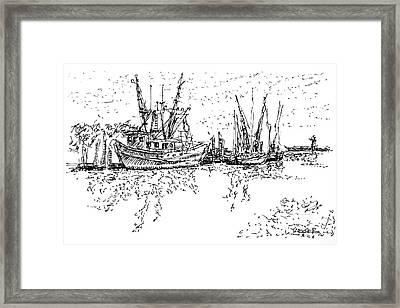 Shrimpers Delight Framed Print