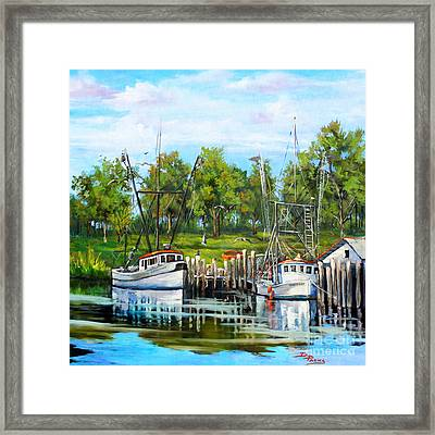 Shrimping Boats Framed Print