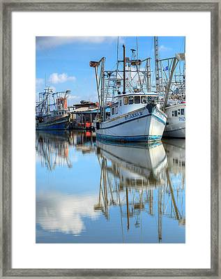 Shrimping In South Louisiana  Framed Print
