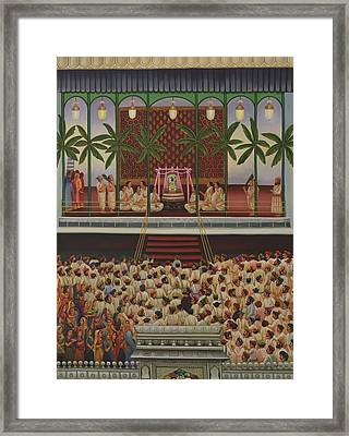 Shrinathji Sabha Framed Print