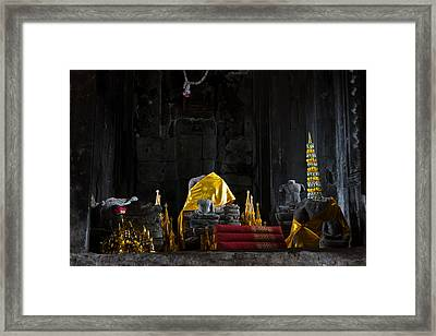Shrine At Angkor Wat Framed Print