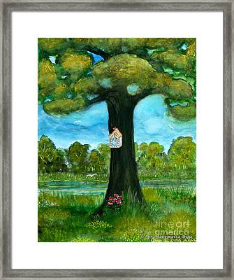 Shrine At The Roadside Framed Print by Anna Folkartanna Maciejewska-Dyba