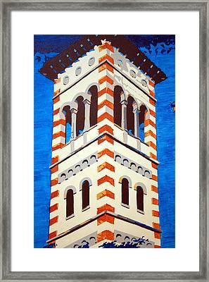 Shrine Bell Tower Detail Framed Print by Sheri Buchheit