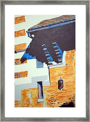 Shrine Corbels Detail Framed Print by Sheri Buchheit