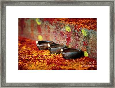 Shrine Light Framed Print by Tim Gainey