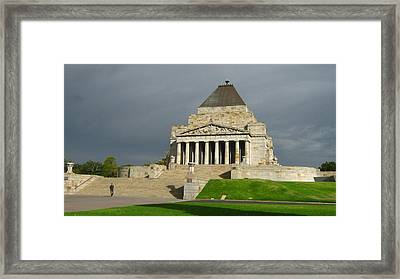 Shrine Of Remembrance Framed Print