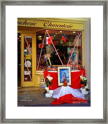 Shrine To St Tropez Framed Print