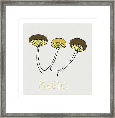 Framed Print featuring the drawing Shroom by Frank Tschakert
