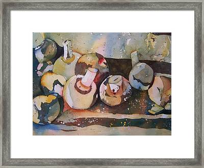 Shrooms Framed Print by Sandy Collier