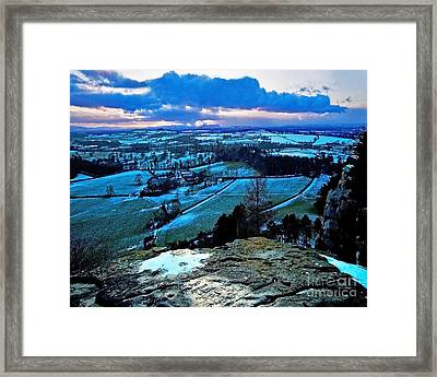 Shropshire Winter Sunset Scene Framed Print