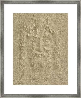 Shroud Of Turin 3d Information Framed Print by Ray Downing
