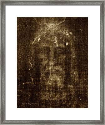 Shroud Of Turin Framed Print by Ray Downing