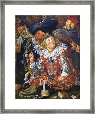 Shrovetide Revellers The Merry Company Framed Print