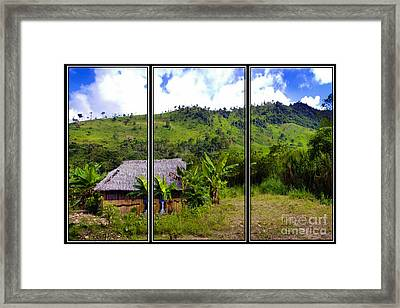 Framed Print featuring the photograph Shuar Hut In The Amazon by Al Bourassa