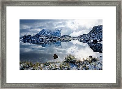 Shuksan In Fog Framed Print by Idaho Scenic Images Linda Lantzy