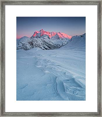 Shuksan's Shine Framed Print by Ryan McGinnis
