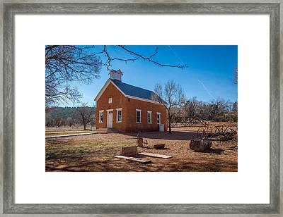 Shumway School House Framed Print