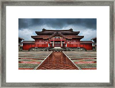 Shuri Castle Framed Print by Ryan Wyckoff