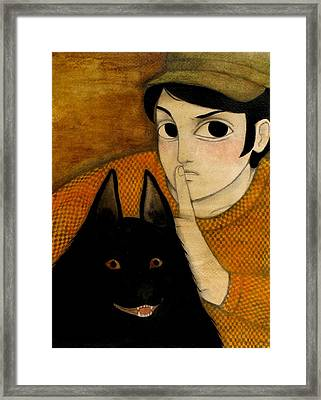 Shush Rudy They're Coming Framed Print