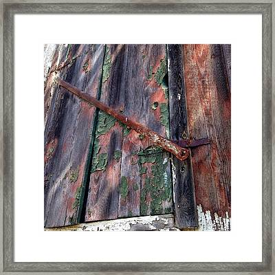 Framed Print featuring the photograph Shut Down by Olivier Calas