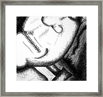 Shut Your Mouth Framed Print by Jera Sky