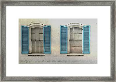 Shutter Blue Framed Print by JAMART Photography