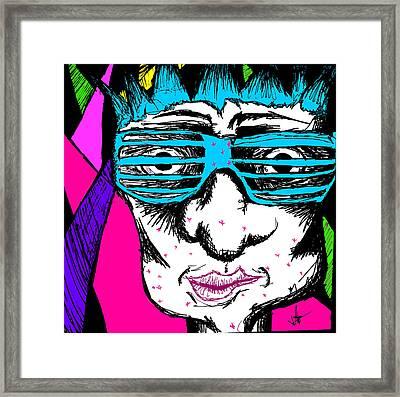 Shutter Shades Framed Print