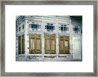 Shuttered And Peeling Palace Framed Print