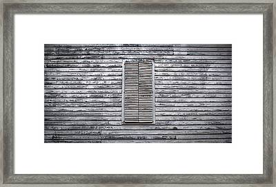 Shuttered Framed Print