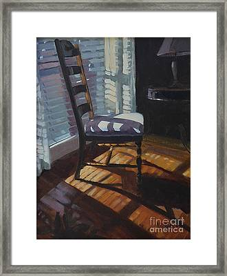 Shuttered Repose  Framed Print by Nancy  Parsons