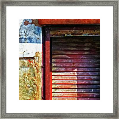 Shuttered Window Abstract Square Framed Print by Tony Grider