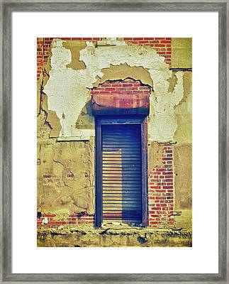 Shuttered Window Framed Print by Tony Grider