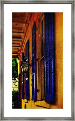 Shutters And Lamps Framed Print