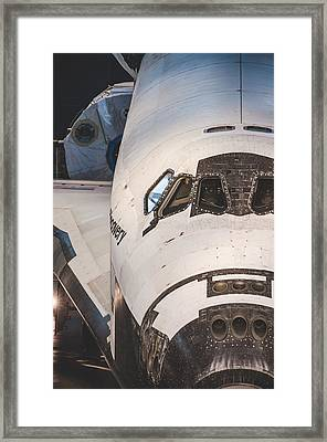 Shuttle Close Up Framed Print by David Collins