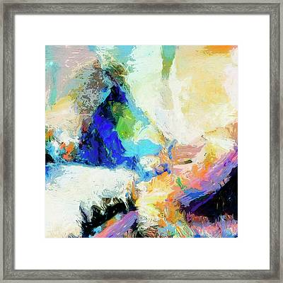 Framed Print featuring the painting Shuttle by Dominic Piperata