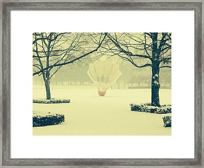 Shuttlecock In The Snow Framed Print