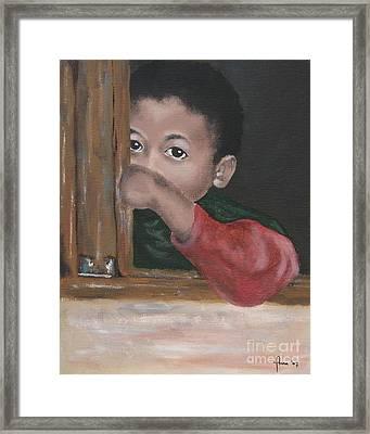 Framed Print featuring the painting Shy by Annemeet Hasidi- van der Leij