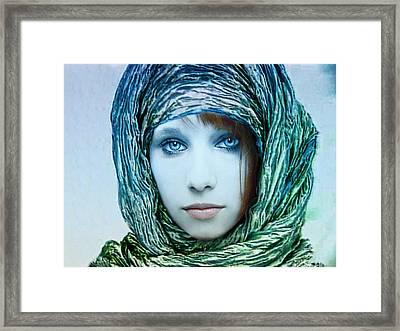 Shy Beautiful Demoiselle Framed Print by Joachim G Pinkawa