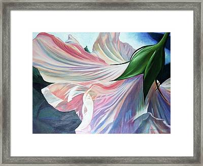 Shy Bloom Framed Print