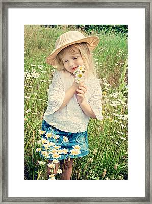 Shy Child Framed Print by Maria Dryfhout