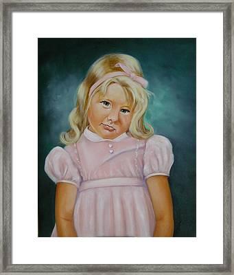 Shy Framed Print by Joni McPherson