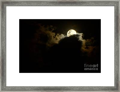 Shy Moon Rising By Kaye Menner Framed Print by Kaye Menner