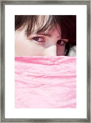 Shy Mystery Woman Framed Print by Jorgo Photography - Wall Art Gallery