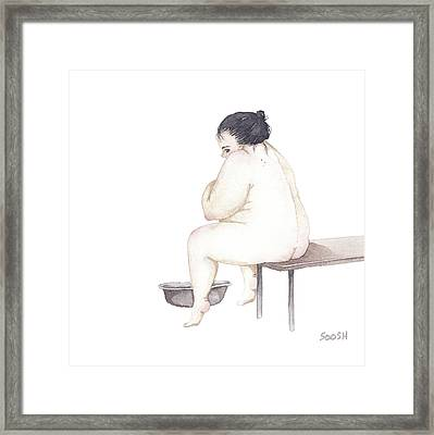 Shy Framed Print by Soosh