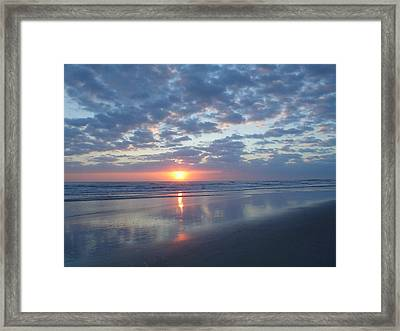 Shy Sunrise Framed Print