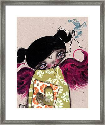 Shy You Say Framed Print by  Abril Andrade Griffith