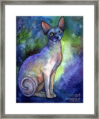 Shynx Cat 2 Painting Framed Print by Svetlana Novikova