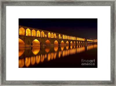 Si O Seh Pol Bridge - Isfahan - Iran Framed Print by Bryan Freeman